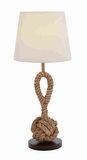 Attractive and Unique Metal Rope Pier Lamp in Milky White Shade Brand Woodland