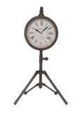 Attractive Black Metal Clock with Stand by Three Hands Corp