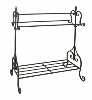 Attractive Black Metal Quilt Rack by Three Hands Corp