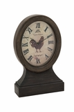Attractive Brown Polished Wood Table Clock by Woodland Import