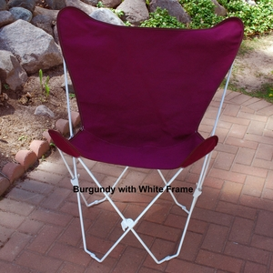 Attractive Burgundy Colored Fabric Foldable Butterfly Chair by Alogma