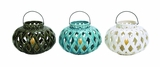 Attractive Ceramic Lantern 3 Assorted by Woodland Import