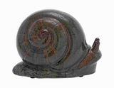 Attractive Ceramic Snail with Minute Details on The Shell Brand Woodland