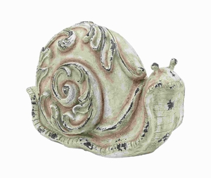 Attractive Classic Fiber Glass Garden Snail in Cream Shade Brand Woodland
