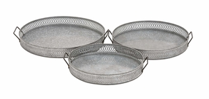 Attractive Classy Styled Metal Tray by Woodland Import
