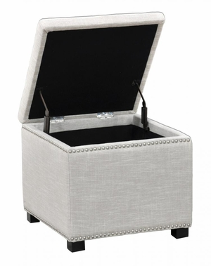 Attractive Collina Square Storage Cube - Ivory