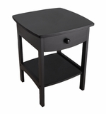 Attractive Curved End / Night Table with Drawers by Winsome Woods