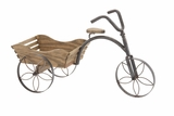 Attractive Customary Styled Metal Wood Tricycle Planter by Woodland Import