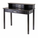 Attractive Dark Espresso Liso Home Office Set, Computer Desk with Hutch by Winsome Woods