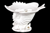 Attractive & Delightful Ceramic Seashell w/ Fish Platter in White