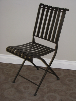 Attractive Derby's Rounded Metal Folding Chair by 4D Concepts