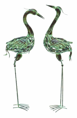 Attractive & Elegant Metal Bird with Artistic Styling - Set of 2 Brand Woodland