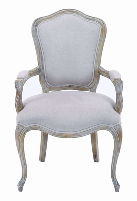 Attractive Fabric Upholstered Wooden Chair with Rustic Look Brand Woodland