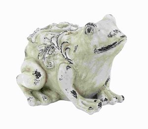 Attractive Fiber Glass Garden Frog with Realistic Appearance Brand Woodland