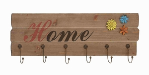 Attractive Francis Wood Wall Hook Sign Brand Benzara