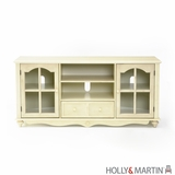 Attractive Holly & Martin Roosevelt Large TV Console-Antique White by Southern Enterprises