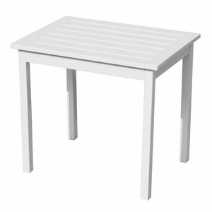Attractive Indonesia's Styled White End Table by Southern Enterprises