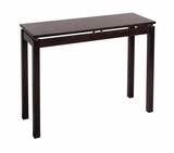 Attractive Linea Console / Hall Table with Chrome Accent by Winsome Woods