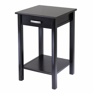 Attractive Liso End Table with Drawer & Shelf by Winsome Woods