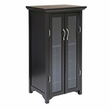 Attractive Mason 20 Bottles Wine Cabinet With French Doors by Winsome Woods