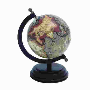 Attractive Metal Wooden Globe with Distinctive Pattern Brand Woodland