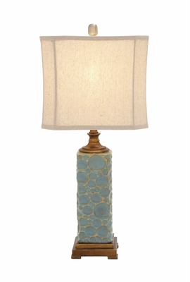 Attractive Modish Polystone Table Lamp by Woodland Import