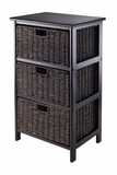 Attractive Omaha Storage Rack with 3 Foldable Baskets by Winsome Woods