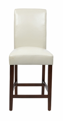 Attractive Parsons Counter Stool with Faux Leather by Office Star