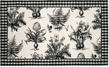 Attractive Patterned Black & White Botanical Hooked Rug by 123 Creations