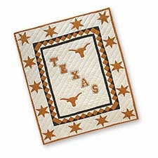 Attractive Quilted Throws Branded with the University of Texas Logo Brand C&F