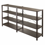 Attractive Sheldon 2X, 4-Tier Crossed Wired Shelf by Winsome Woods