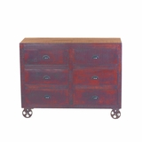 Attractive styled 6 Drawer Wood Chest by Yosemite Home Decor