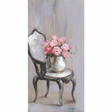 Attractive Styled Chair Of Roses I Artwork by Yosemite Home Decor