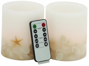 Attractive Styled Led Flameless Candle Remote Set by Woodland Import