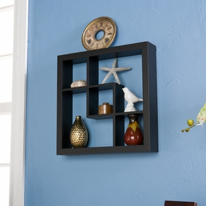 Attractive Styled Madison Display Shelf Black by Southern Enterprises