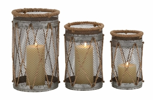 Attractive Styled Metal Candle Holder by Woodland Import