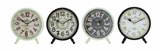 Attractive Styled Metal Desk Clock 4 Assorted by Woodland Import