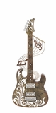 Attractive Styled Metal Guitar Wall D�cor by Woodland Import