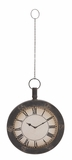Attractive Styled Metal Hanging Wall Clock by Woodland Import