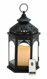 Attractive Styled Metal Led Candle Lantern by Woodland Import