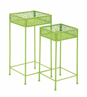 Attractive Styled Metal Plant Stand by Woodland Import