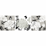Attractive Styled Monochromatic Floral Artwork by Yosemite Home Decor