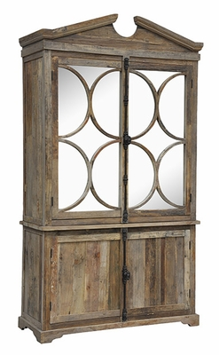 Attractive Styled Patchy Textures Wells Cabinet