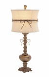 Attractive Styled Polystone Glass Ball Table Lamp by Woodland Import