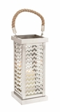 Attractive Styled Stainless Steel Glass Lantern by Woodland Import