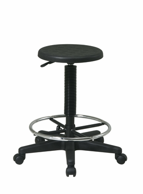 Attractive Styled Stool with Adjustable Footrest by Office Star