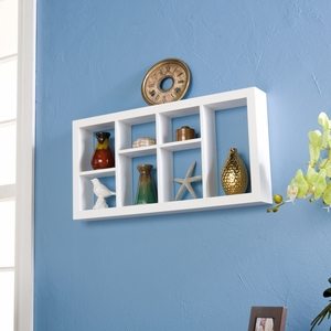 Attractive Styled Taylor Display Shelf White by Southern Enterprises