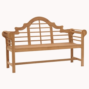 Attractive Styled Teak Lutyens Bench by Southern Enterprises