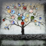 Attractive Styled Treed Bubbles Classy Painting by Yosemite Home Decor