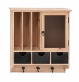 Attractive Styled Wood Metal Wall Cabinet by Woodland Import